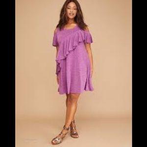 Lane Bryant cold shoulder dress 26/28 NWT